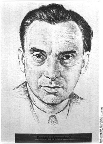 Berliner Zeitung - Portrait of Rudolf Herrnstadt (1952).