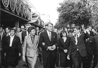 Mauno Koivisto - President Koivisto and Mrs. Koivisto visiting Dresden, East Germany, 1987.
