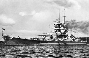 Scharnhorst-class battleship - Gneisenau in harbor