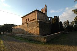 The castle of Bibbiano in the comune of Buonconvento.