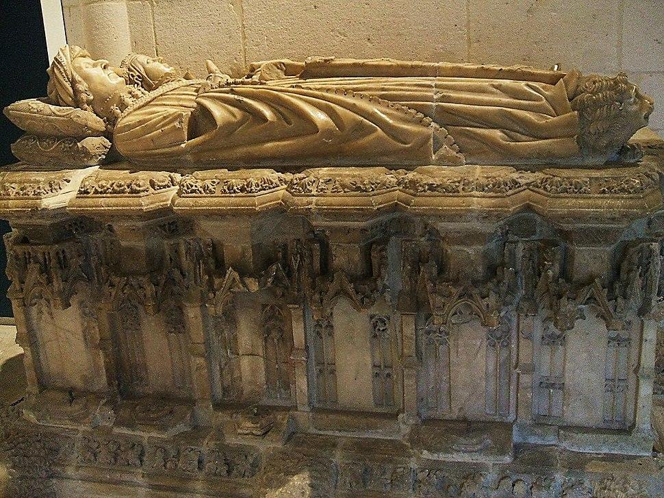 Burgos - Museo de Burgos, sepulcro de Don Gomez Manrique y Doña Sancha Rojas, s. XV, procedente de Fresdelval