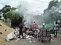 Burning Garbage - Padmapukur Water Treatment Plant Road - Howrah 20180528081344.jpg