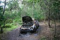 Burnt-out car on Little Ouse Path - geograph.org.uk - 517901.jpg