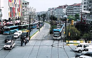T1 (Istanbul Tram) - Image: Busy Istanbul Streets