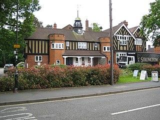 Byfleet inland island village forming a suburb of Woking in Surrey, England