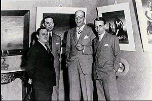Candido Portinari - Image: Cândido Portinari, Antônio Bento, Mário de Andrade e Rodrigo Melo Franco 1936