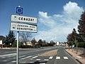 Cébazat panneau ville jumelée 2015-04-10.JPG