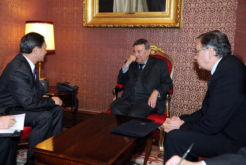 File Canciller Y Vicecanciller Peruano Recibieron Al Ministro Asistente Del Ministerio De
