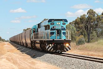 CBH Group - CBH class hauled train at Yilliminning in October 2013