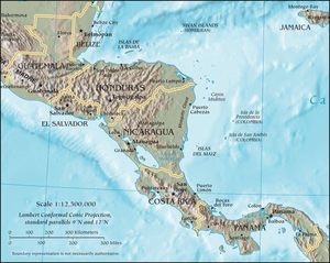 International Commission for Central American Recovery and Development - Map of Central America