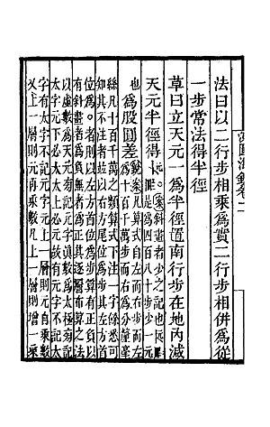 Ceyuan haijing - Ciyuan haijing vol II Problem 14 detail procedure(草曰)