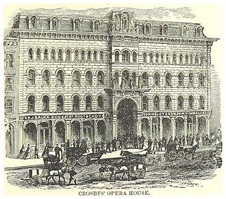 Crosby's Opera House - Image: COLBERT(1871) p 363 CROSBYS' OPERA HOUSE