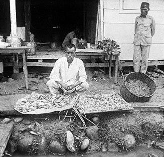 Benzoin (resin) - Benzoin street vendor in Tapanoeli Residency, North Sumatra