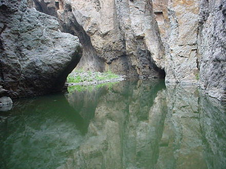 The Somoto Canyon National Monument is located in Somoto in the Madriz Department in Northern Nicaragua. Canonsomoto.JPG
