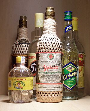 Cachaça - Several brands of cachaça