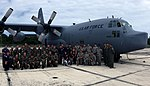 Cadets from the AFROTC DET 756, University of Puerto Rico, San Juan, Puerto Rico and Civil Air Patrol Cadets from the PR068 squadron, Lajas, Puerto Rico take a moment and pose for the camera.jpg