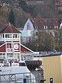 Cafe und Restaurant Bellevue sowie Außenwandbemalung eines Leuchtturms am Gebäude Hafendamm 13 (Flensburg 2014-11-21), Bild 1.jpg