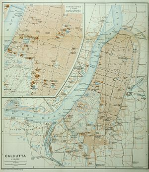 Kolkata - Map of Calcutta, ca 1914