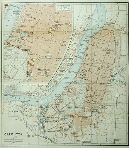Map of Calcutta, ca 1914 Calcutta (Baedeker, 1914).jpg