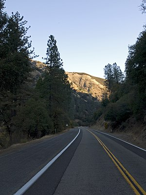 California State Route 140 - A stretch west of El Portal