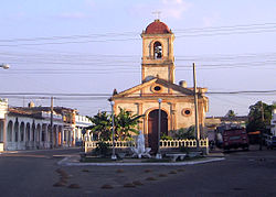 Main street and town's church