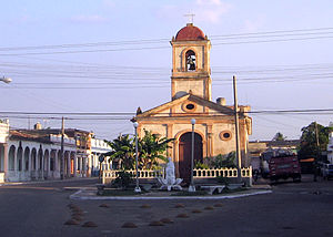Limonar - Main street and town's church
