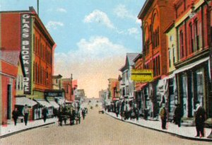 Calumet, Michigan - Fifth Street, looking north, Red Jacket circa 1910