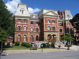 Ebensburg, Pennsylvania - The Cambria County courthouse in Ebensburg