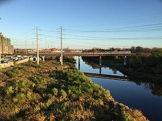 Cameron Run - Washington Metro Yellow Line bridge over Cameron Run