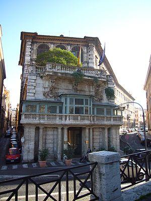 Palazzo Borghese - Flaminio Ponzio's rear façade of Palazzo Borghese on the Tiber River.