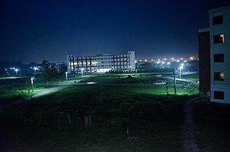 Begum Rokeya University - Campus of Begum Rokeya University at Night, Rangpur
