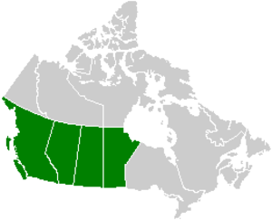 Volcanology of Western Canada - Image: Canada Western provinces map