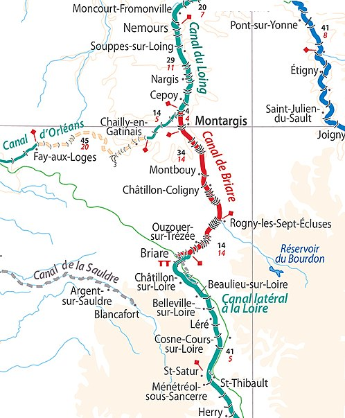 Canal du Briare location