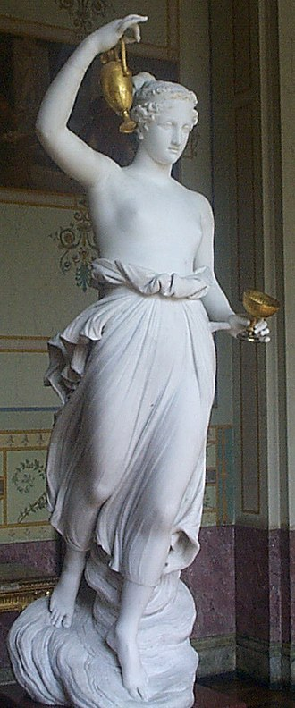 Hebe (mythology) - Hebe by Antonio Canova, 1800–05 (Hermitage, St. Petersburg)