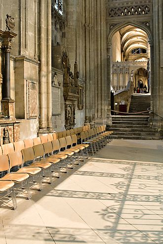 Richard of Dover - Burial site of Richard of Dover in the north aisle of the nave of Canterbury Cathedral