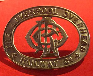 Liverpool Overhead Railway - A cap badge from the railway