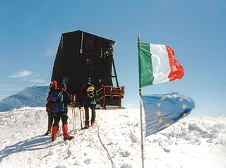 Margherita Hut mountain hut located on the Signalkuppe of Monte Rosa in the Alps