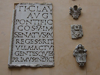 Arch of Claudius (British victory) - Inscription from the Arch of Claudius, Capitoline Museums