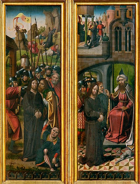 File:Capture of the Lord - Detail of the altarpiece of the Deutschordenskirche.jpg