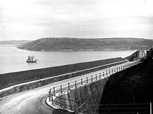 Fort Davis, County Cork - Fort Davis (then called Fort Carlisle) as pictured in the late 19th century from the companion defences at Fort Meagher (then Fort Camden)