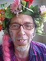 Carnaval des Femmes 2011 - Un travesti avant le départ.JPG