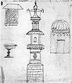 Carpaccio - Minareto, finestra, calice, edificio a pianta circolare (verso), 1505 ca..jpg