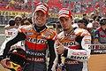 Casey Stoner and Andrea Dovizioso 2011 Brno.jpg