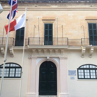 Postage stamps and postal history of Malta - Casa del Commun Tesoro in Valletta, which housed the first post office in Malta between 1708 and 1849
