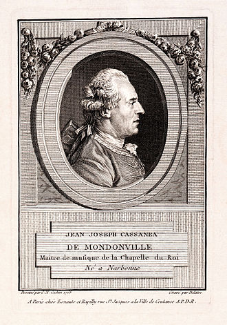 Jean-Joseph de Mondonville - Mondonville, 1768 engraving