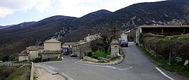 A view of the village of Castellet