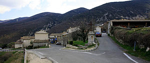Castellet - A view of the village of Castellet