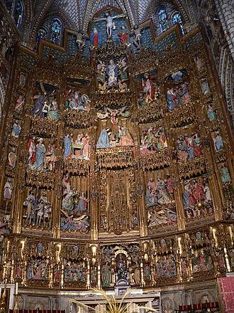 Felipe Bigarny - Main altarpiece of the Toledo Cathedral.