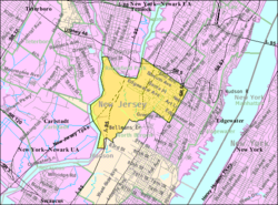 Census Bureau map of Ridgefield, New Jersey