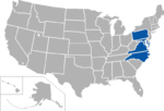 Central Intercollegiate Athletic Association, coverage map